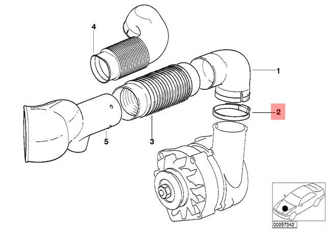 Genuine Bmw E12 E21 E28 Radiator Cooling Hose Clamp X10 Pcs Oem