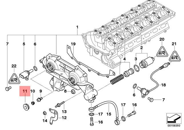 genuine bmw e38 e39 e46 e53 seal ring screw vanos unit plug oem 11361438338