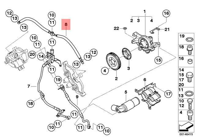 Genuine BMW E60 E61N E63 E64 Cabrio Crankcase Breather Hose OEM 11367834573