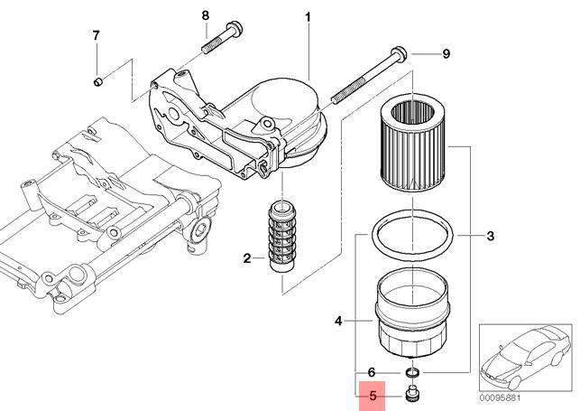 Genuine Bmw E53 E60 E60n E61 E61n E63 Oil Sump Pan Drain Plug Oem