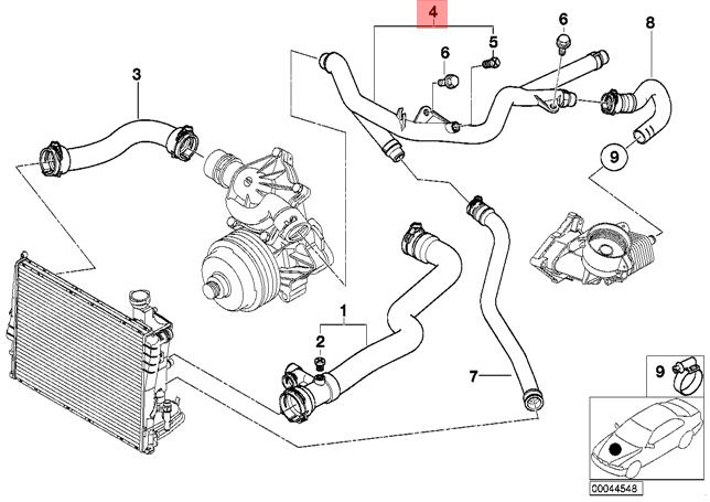 E46 Cooling System Schematic