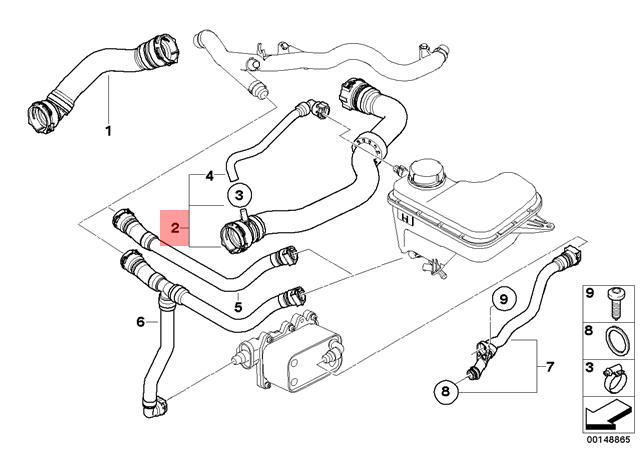 Genuine Bmw E83 E83n Suv Radiator Cooling Hose Oem 11533401058