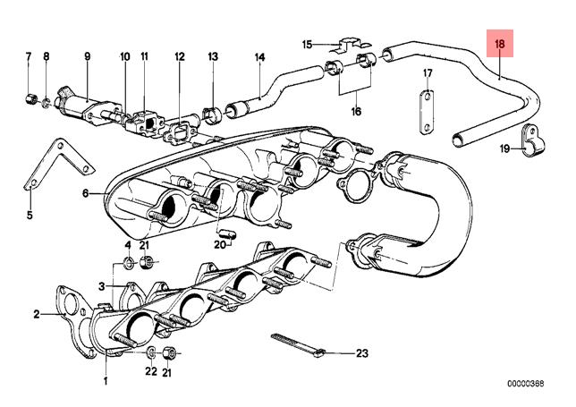 Genuine Bmw E12 E21 Saloon Intake Manifold System Hose Oem