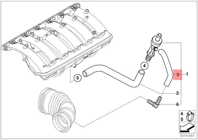 Genuine Bmw E53 Suv Vacuum Control Hose Elbow Oem 11617547586