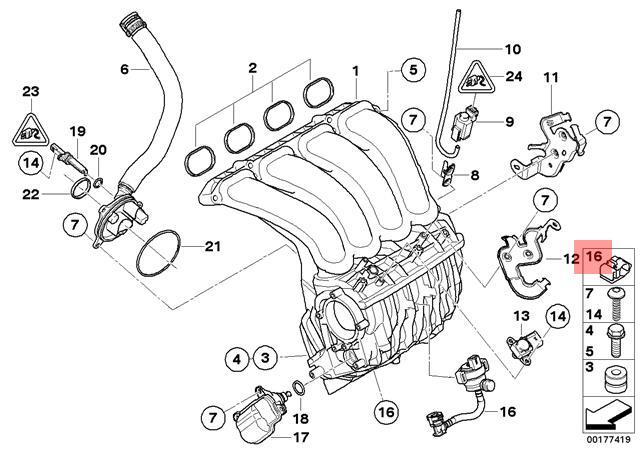 Genuine BMW E60 E61N E63 E64 Intake Manifold System Hose OEM 11617834685