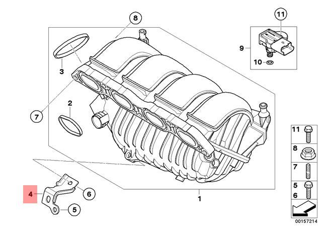 Genuine BMW R55 R55N R56 R56N R57 Air Inlet Intake Manifold OEM 13712753073