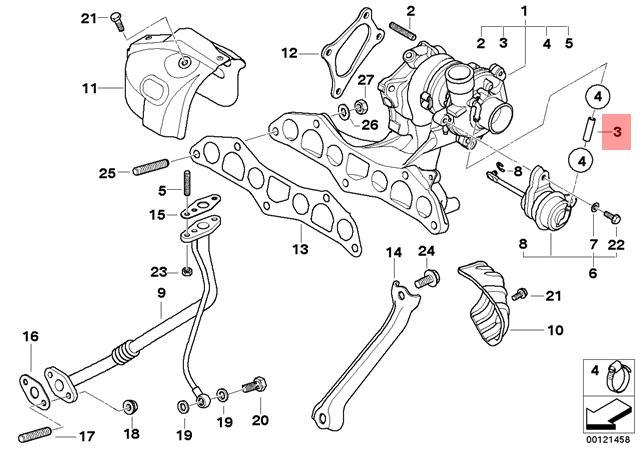 Genuine Bmw R50 Coupe Turbocharger Vacuum Hose Oem 11657791077