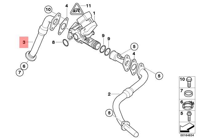 Genuine BMW E81 E82 E87N E88 E90 E90N Exhaust Manifold Tube OEM 11717578327