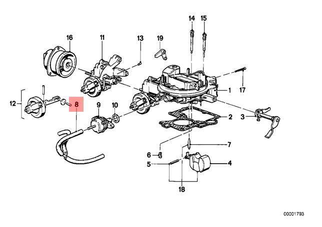 Genuine Bmw E21 E30 Coupe Carburetor Automatic Choke Hose