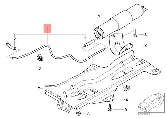 3668 Ford 7.3L OEM Motorcraft Fuel Filter Vacuum Indicator Switch E8TZ-9S283-A