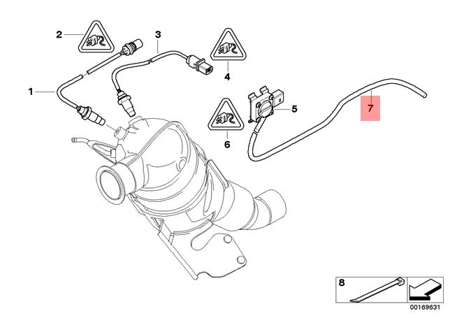 Genuine Bmw E60 E60n Catalytic Converterfront Silencer Hose Oem