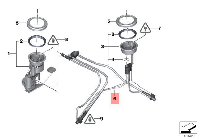 Genuine Bmw E53 Suv Fuel Transfer Jet Pump Cables Oem 16111184427