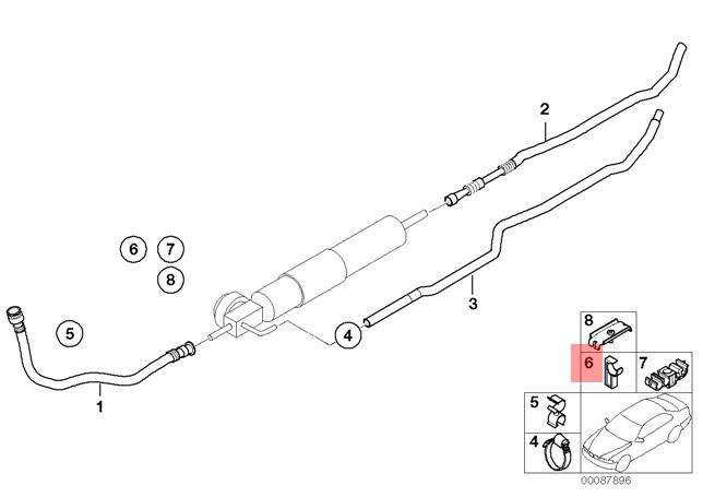 details about genuine bmw e46 z3 cabrio coupe fuel feed pipe tubing support  oem 16122282049