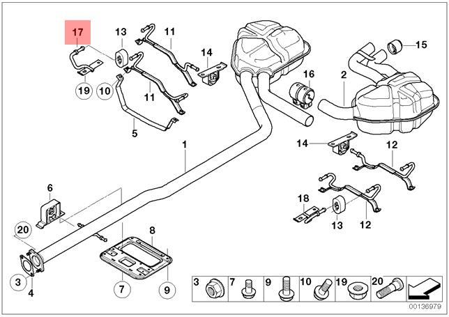 genuine mini cooper mini exhaust support bracket