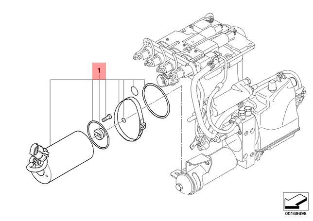 Genuine Bmw Set Electric Motor M6 E60 E61 E63 E64 M5 23017841032