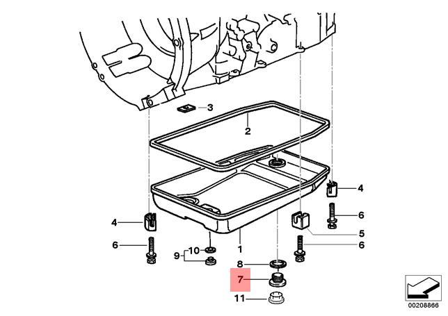 Genuine Bmw E31 E32 E34 E36 E38 E39 Oil Sump Pan Drain Plug Oem