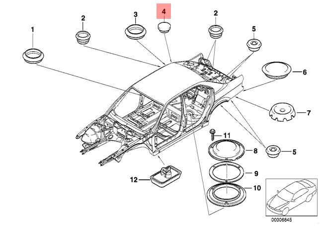 Genuine Blind Plug X5 Pcs Bmw M3 Z3 Roadster 247 E30 E32 E39 316