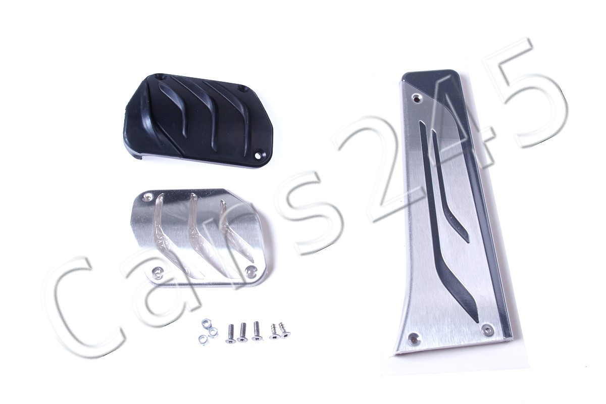 Genuine BMW M X5 X6 Automatic Stainless Steel Pedal Set w//o Footrest