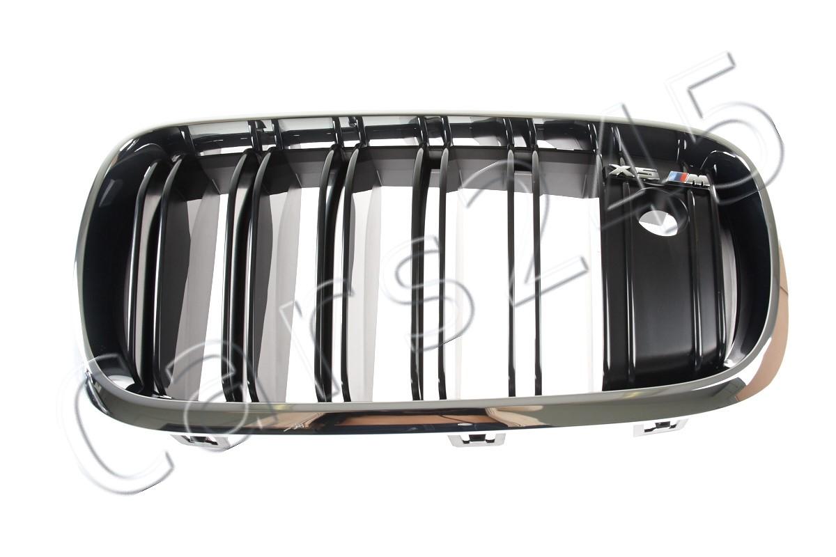 NEW OEM Genuine BMW X5M F85 Radiator Kidney Grille M Emblem LEFT 51138063149
