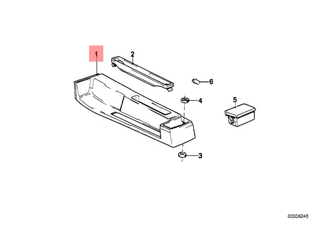 details about genuine bmw console m3 e30 316 316i 318i 318is 320i 320is  323i 51161884246