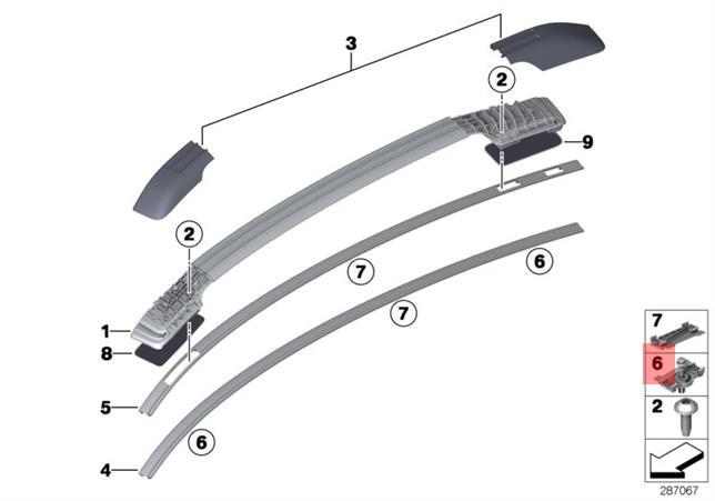 Genuine BMW E71 E72 SAC Roof Molding Clip OEM 51317190333