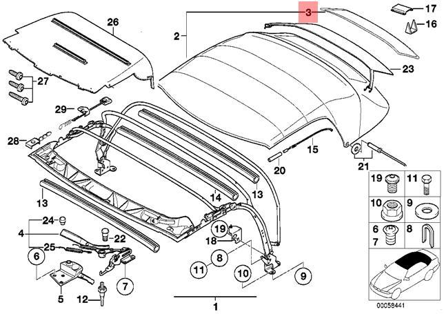 genuine bmw z3 roadster rear zip fastener window oem 54318401027 ebay 1999 BMW Z3 M Roadster pictures