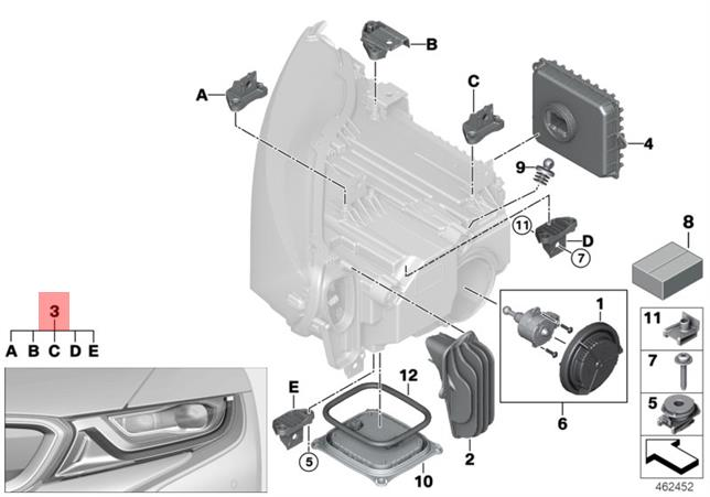Genuine Repair Kit Headlight Bmw I I8 I12 Coupe