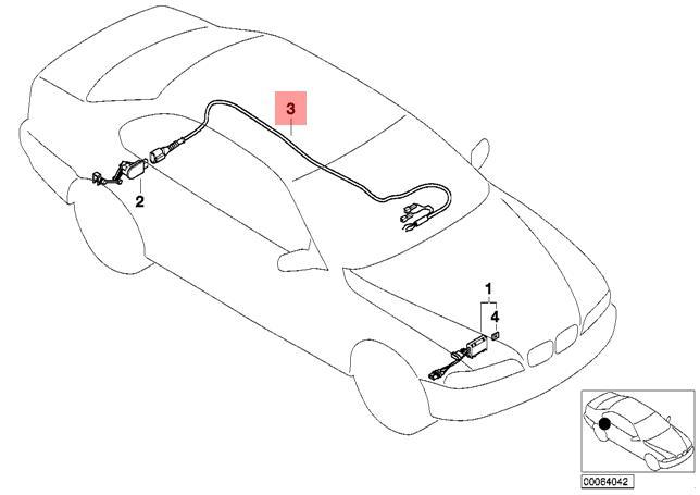 Genuine Bmw E39 Sedan Wagon Wiring Set Xenon Light Oem 63120010311