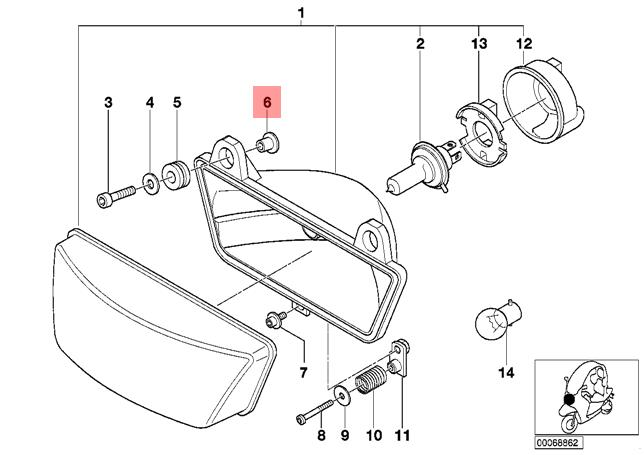 Genuine BMW C1N Rear Light OEM 63212329158