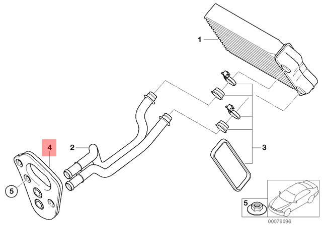 Genuine Bmw Jcw R50 R52 R53 Evaporator Heater Pipe Grommet Oem