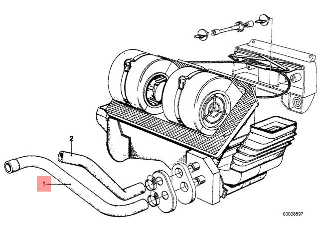 Genuine Bmw E12 E21 Sedan Turbocharger Feed Inlet Pipe Oem