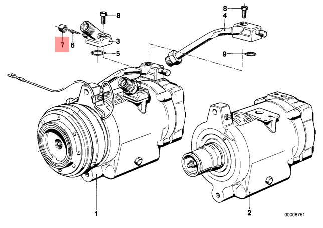 Genuine Bmw E12 E21 E23 E24 E28 E3 E30 E9 Cabrio Vacuum Cap Oem