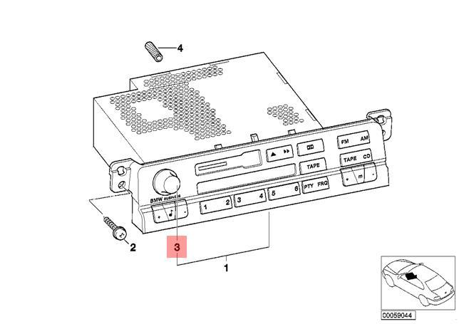 genuine bmw e46 coupe audio radio navigation controller