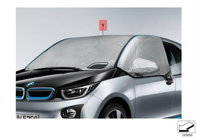 Details about Genuine BMW i3 Climate Protection Cover For Windscreen /  Windows 82152348067