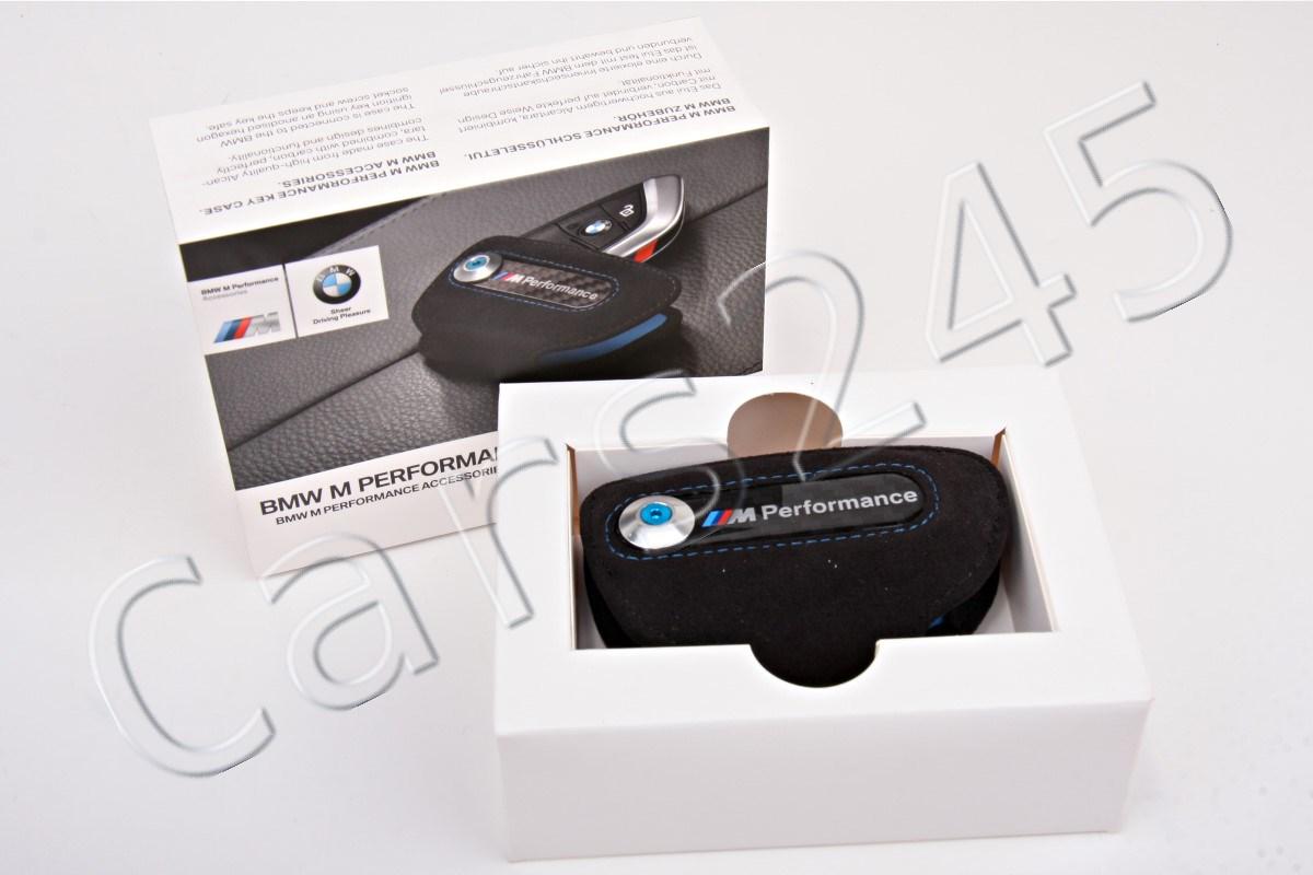 Genuine BMW M Performance Key Fob Holder Bag Carbon Cover Case 82292355518
