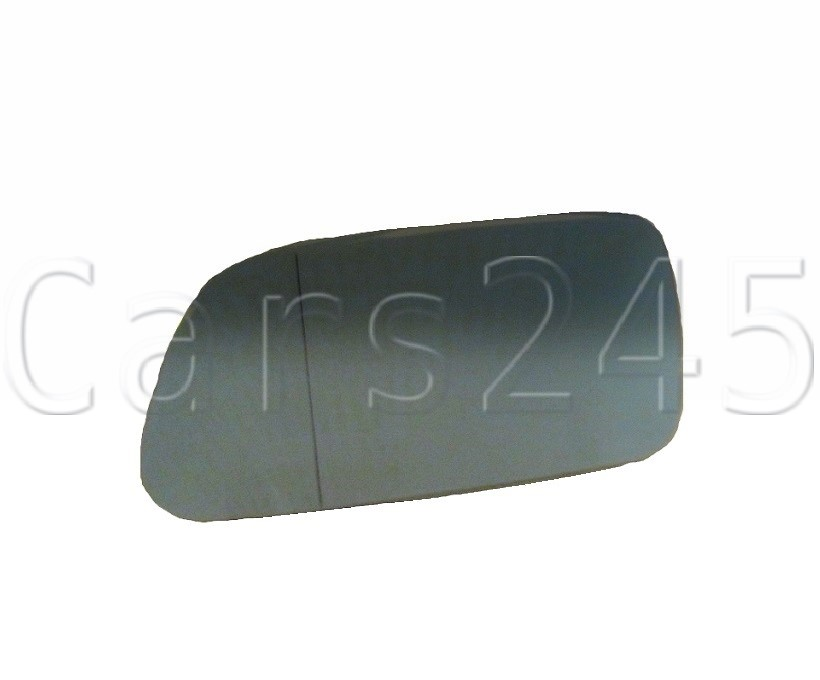 Left passenger side wing mirror glass for Audi A3 2000-2003 heated Blue