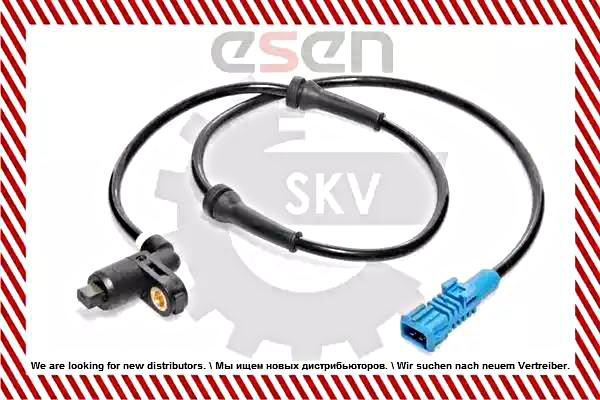 ABS Wheel Speed Sensor Fits PEUGEOT 206 Sw Hatchback Cc 1998-4545 76