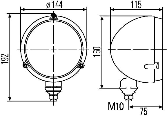Halogen 12,5 Fitting Position: Left//Right Ref Round HELLA 1A3 996 002-191 Headlight mounting//Screw Connection H4-12V//24V