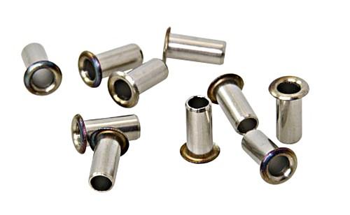 Hollow Tubular Rivets AISI 316 4.5 x 8mm X100 pcs