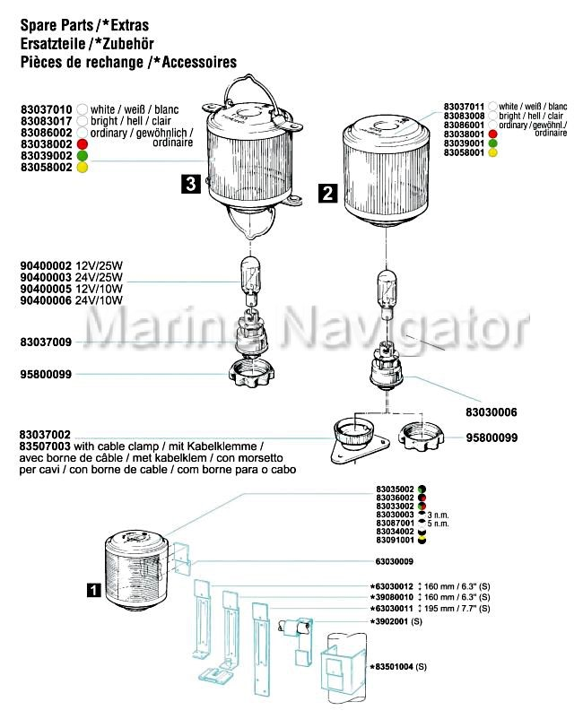 AQUASIGNAL Series 20 Socket for plug-in Mast Black