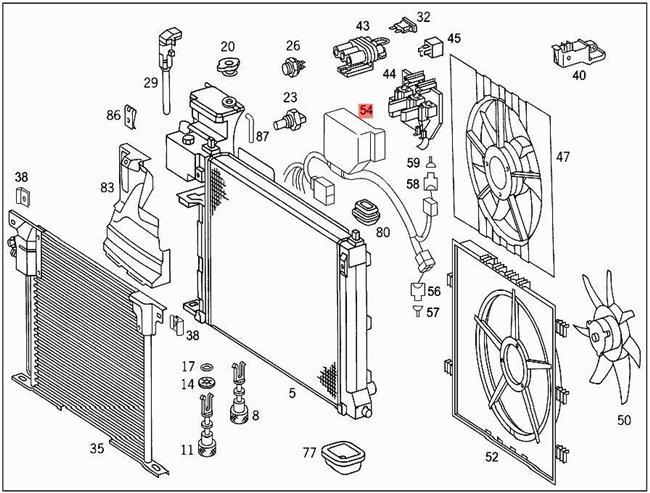 Genuine Mercedes Wiring Harness 638 6382 0005400509