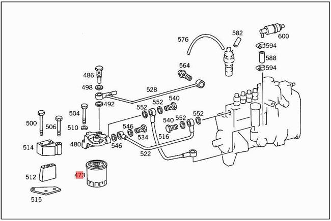 Genuine Mercedes Fuel Filter W123 300cd 240d 0010923201 Ebay