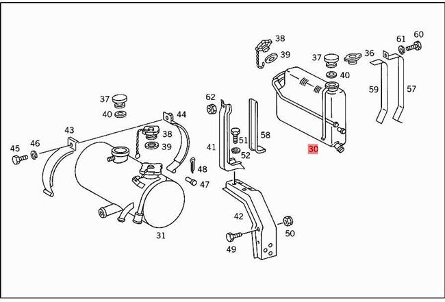 Genuine Mercedes Coolant Level Sensor in Expansion Tank sender sending 00-10