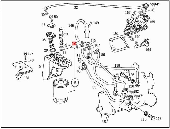 Mercedes Benz E300 Diesel Fuel System Diagram