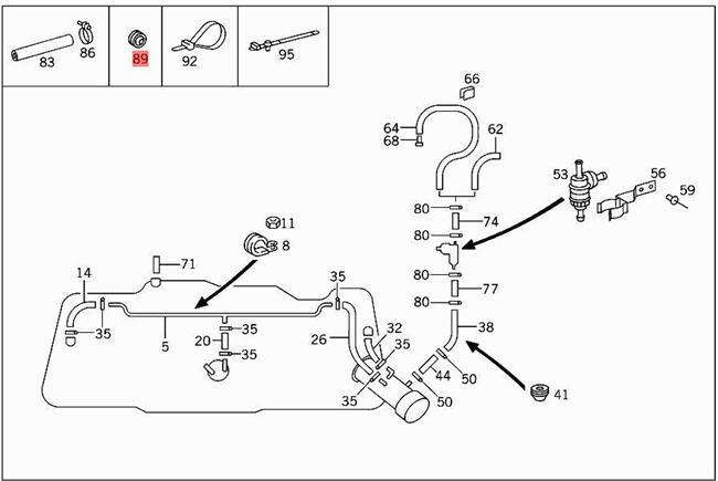 Mercedes Benz W163 Parts Schematics
