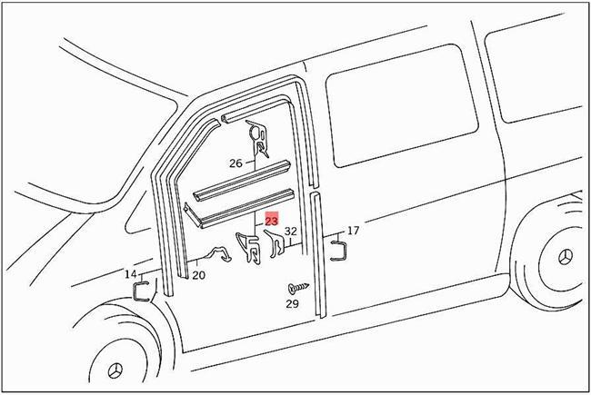 Genuine Seal Mercedes Vito 6382 W638 Box Bus Mpv 6387250423