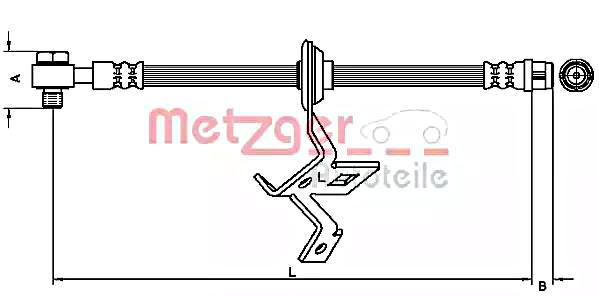 MERCEDES ML430 W163 4.3 Brake Hose Front Left 98 to 05 M113.942 Hydraulic B/&B