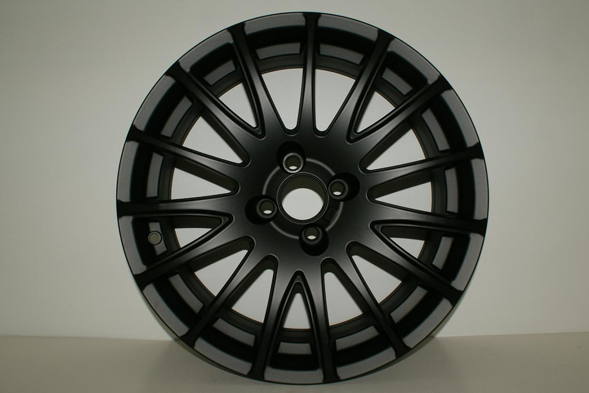 4x pcs FIAT 500 Abarth Grande Punto BLACK Alloy Wheels Rims R18 18