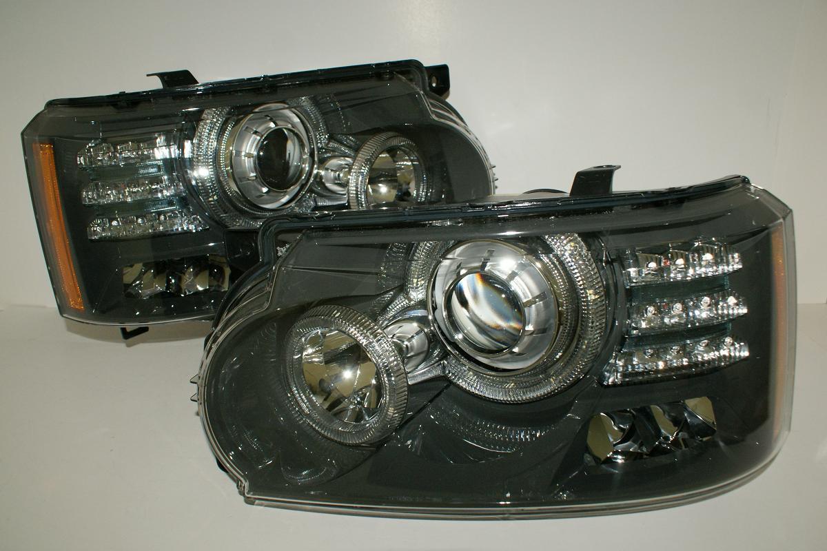 land rover range rover l322 2010 led bi xenon headlights. Black Bedroom Furniture Sets. Home Design Ideas