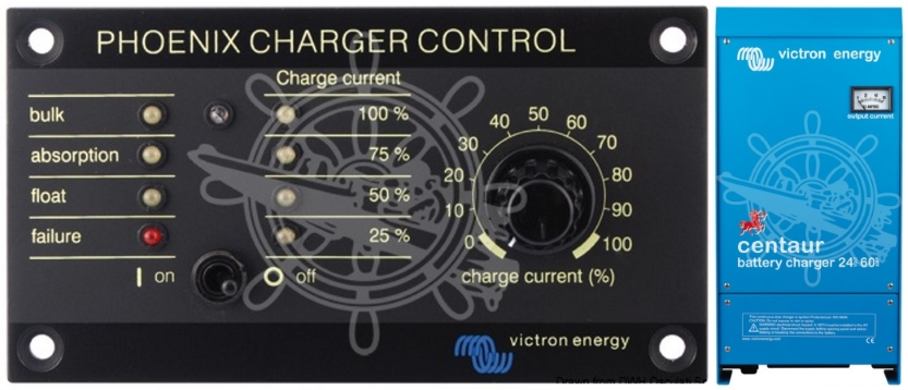 Marine Battery Charger And Monitor : Victron centaur charge level monitoring control panel for
